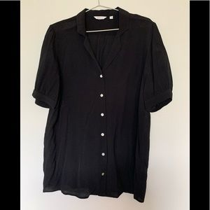 2/$20- Reitmans Black Blouse - almost new
